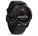 Garmin Fenix 5 - 47mm Black Sapphire with black band