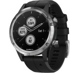 Garmin Fenix 5 Plus 47mm Zilver met Zwarte band