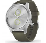 Garmin Vivomove Style 42mm Silver met Moss band