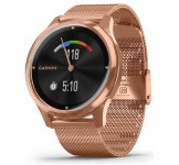 Garmin Vivomove Luxe 42mm Rosegoud met Milanese band
