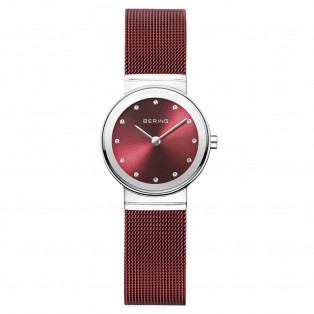 Bering 10126-303 Polished Silver Red Dameshorloge