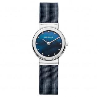Bering 10126-307 Polished Silver Blue Dameshorloge
