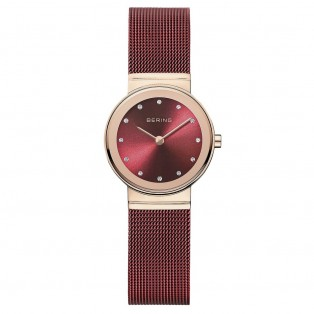 Bering 10126-363 Polished Rosegold Red Dameshorloge