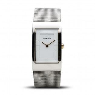 Bering 10222-010-S Silver Square Curved horloge