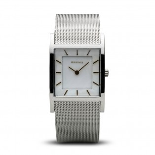 Bering 10426-010-S Silver Square Curved horloge