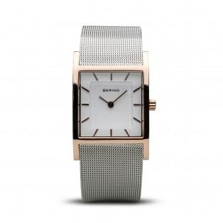 Bering 10426-066-S Rosegold Square Curved horloge