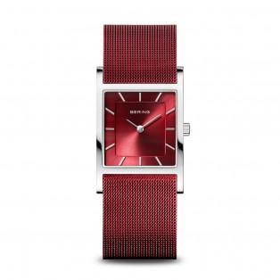 Bering 10426-303-S Red Square Curved horloge