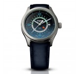 Traser Aurora GMT Blue Leather Horloge