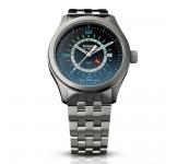Traser P59 Aurora GMT Blue Steel Horloge