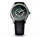 Traser P59 Aurora GMT Silver Leather Horloge