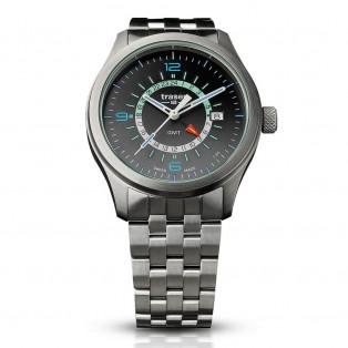 Traser P59 Aurora GMT Silver Steel Horloge