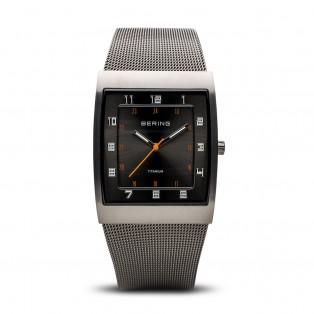 Bering 11233-077 Titanium Rechthoekig Horloge