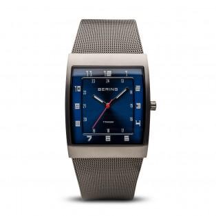 Bering 11233-078 Titanium Rechthoekig Horloge