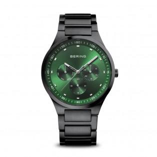 Bering 11740-728 Zwart geborsteld Horloge Groen