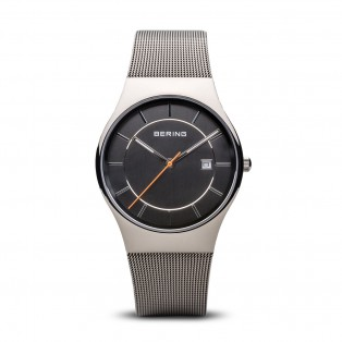Bering 11938-007 Polished Silver Herenhorloge