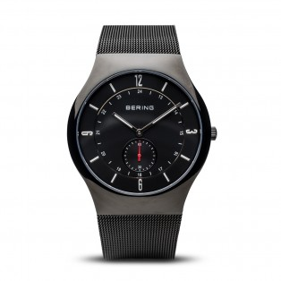 Bering 11940-222 Polished Black Mesh Horloge