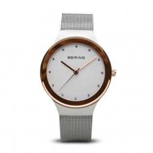 Bering 12934-060 Silver Rosegold Dameshorloge