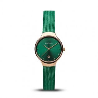 Bering 13326-868 Green Rosegold Dameshorloge