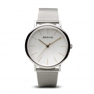 Bering 13436-001 Classic 36mm Polished Silver Mesh
