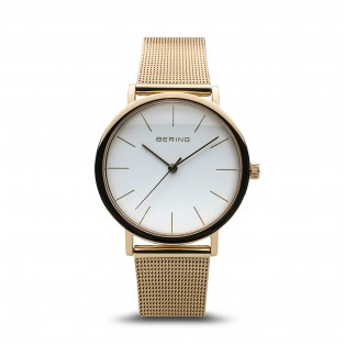 Bering 13436-334 Classic 36mm Polished Gold Mesh