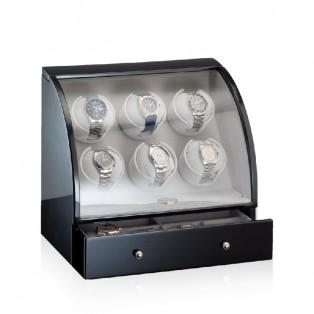 Designhuette Watchwinder Basel 6BK LCD