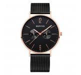 Bering 14236-163 Rosegold Black Mesh 36mm Horloge