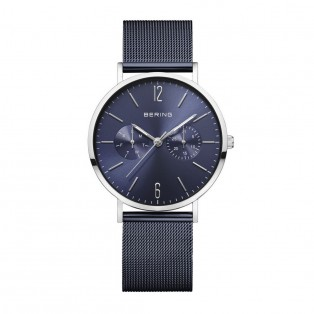 Bering 14236-303 Polished Blue Mesh 36mm Horloge