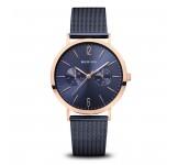 Bering 14236-367 Rosegold Blue Mesh 36mm Horloge