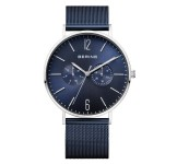 Bering 14240-303 Polished Blue Mesh 40mm Horloge