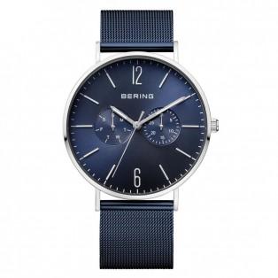 Bering 14240-303 Polished Blue Mesh 40mm Horloge