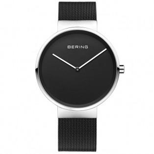 Bering 14539-102 Silver Black Horloge