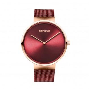 Bering 14539-363 Rosegold Red Dameshorloge
