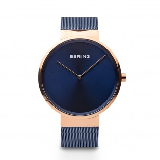 Bering 14539-367 Rosegold Blue Dameshorloge