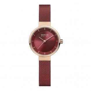 Bering 14627-363 Slim Solar Rosegold Red Dameshorloge