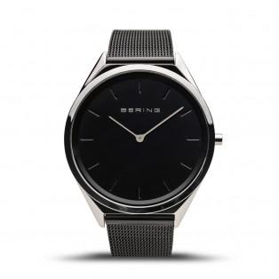 Bering 17039-102 Ultraslim Black 39mm Horloge