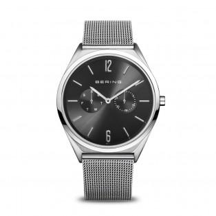 Bering 17140-002 Ultra Slim 40mm Silver Black Horloge
