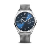 Bering 17140-007 Ultra Slim 40mm Silver Blue Horloge