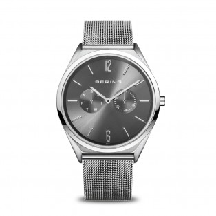 Bering 17140-009 Ultra Slim 40mm Silver Grey Horloge