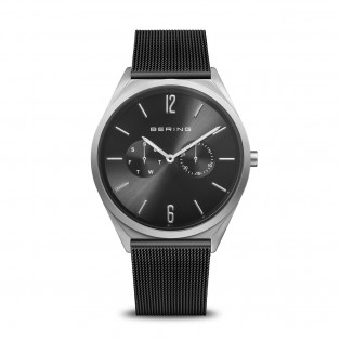 Bering 17140-102 Ultra Slim 40mm Silver Black Horloge