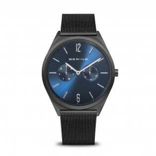 Bering 17140-227 Ultra Slim 40mm Black Blue Horloge