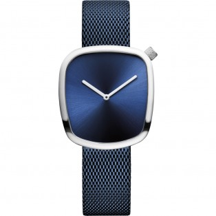 Bering 18034-307 Pebble 34mm Blue Silver