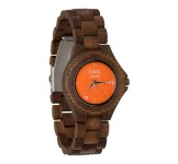 1915 Watch Walnut Lady Orange Horloge 38 mm