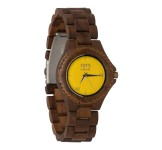 1915 Watch Walnut Lady Yellow Horloge 38 mm