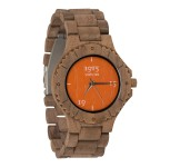 1915 Watch Walnut Men Orange Horloge 46 mm