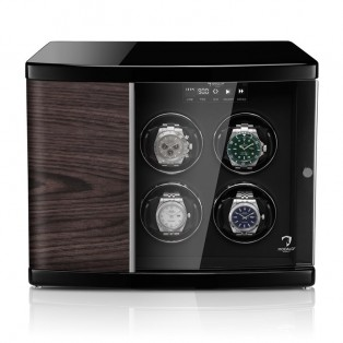 Modalo Timeless MV4 Black Makassar 4 Plus 2 Watchwinder