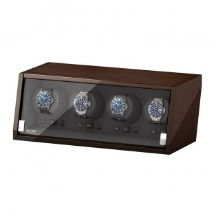 Beco Boxy Castle Walnut Watchwinder 4 Horloges