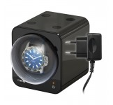 Beco Boxy Fancy Brick Black Watchwinder plus Adapter