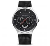 Bering 33441-102 Silver Black Mesh Horloge