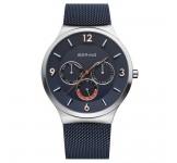 Bering 33441-307 Silver Blue Mesh Horloge