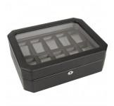Wolf Windsor Horlogebox Zwart Grijs